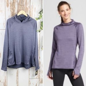 Champion Purple Textured Cowl Neck Active Top NWT